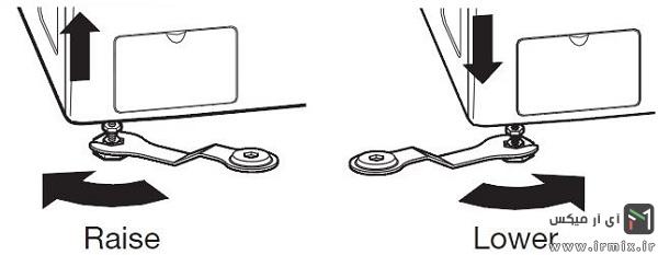 جلوگیری از لغزش ماشین لباسشویی